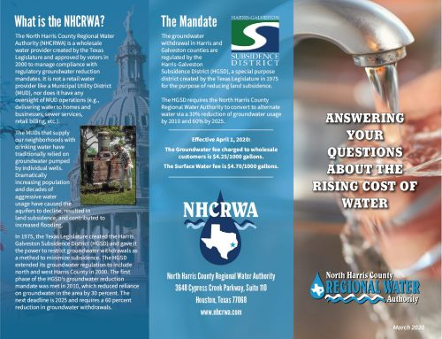 NHCRWA Rising Cost of Water Brochure 2020