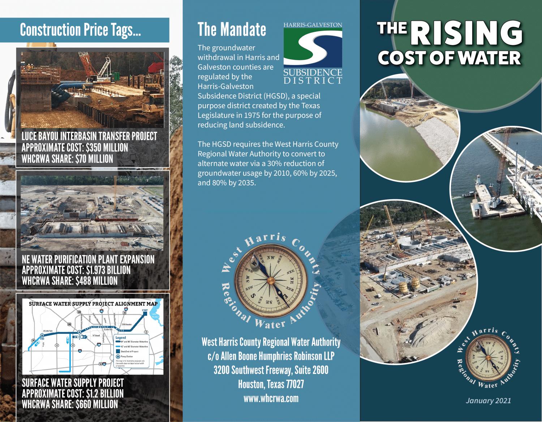 WHCRWA Rising Cost of Water Brochure 2021