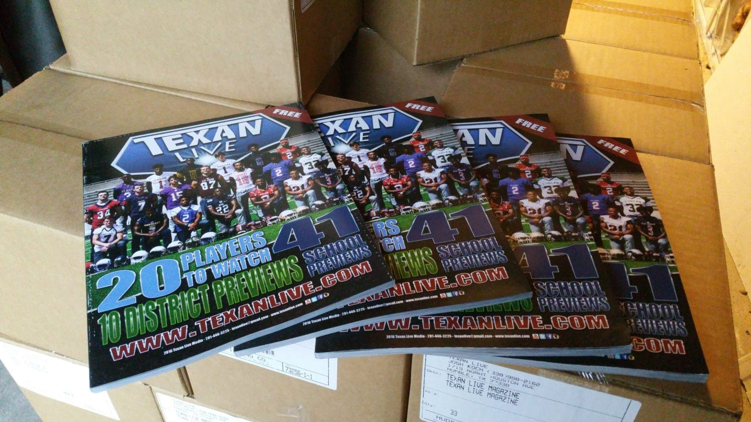 Texan Live 120 page Magazine designed front to back