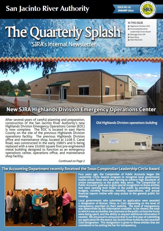 SJRA Quarterly Splash Newsletter