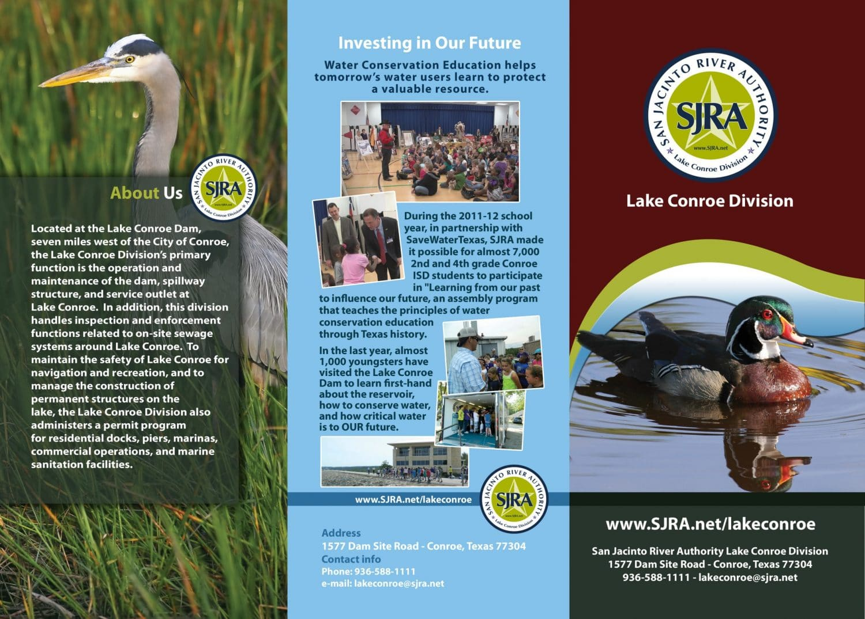 SJRA Lake Conroe Division Brochure