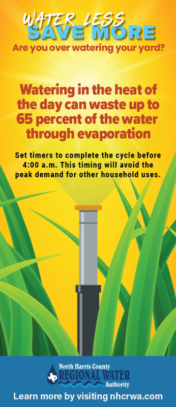 Watering in the heat of the day - billing insert or rack card