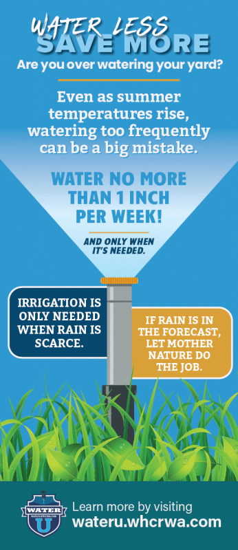 Water no more than 1 inch per week billing inserts or rack card