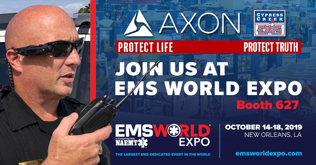 Axon booth expo graphic