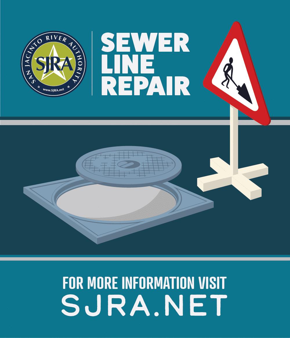 SJRA Sewer Line Repair graphic