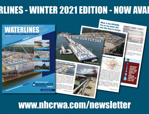 NHCRWA Waterlines Newsletter design and announcement